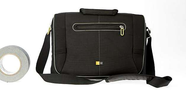 "The 17"" Laptop Messenger Bag from Case Logic. Meant to hold a laptop and essential papers, but not a lot of other bulky equipment. Photo: Russell Yip, The Chronicle"