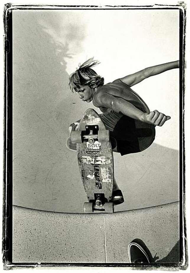 Glen Friedman's photo of Jay Adams is among those on display at 941 Geary Gallery. Photo: Glen Friedman