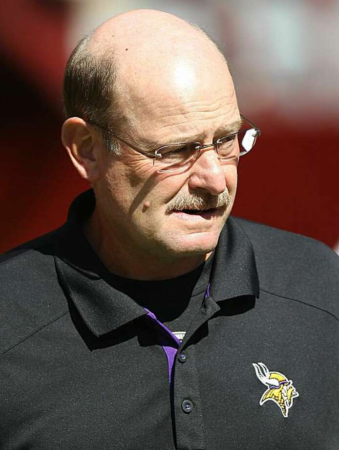 SAN FRANCISCO - AUGUST 22:  (FILE PHOTO) Head coach Brad Childress of the Minnesota Vikings looks on against the San Francisco 49er during an NFL pre-season game at Candlestick Park on August 22, 2010 in San Francisco, California. It was announced that the Minnesota Vikings have fired head coach Brad Childress and placed defensive coordinator Leslie Frazier to interim coach for the rest of the season November 22, 2010. Photo: Jed Jacobsohn, Getty Images