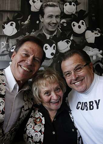 Three original Mouseketeers (from left) Bobby Burgess, Sharon Baird and Cubby O'Brien are reunited at the Walt Disney Family Museum in San Francisco, Calif., on Saturday, Nov. 20, 2010. Photo: Paul Chinn, The Chronicle