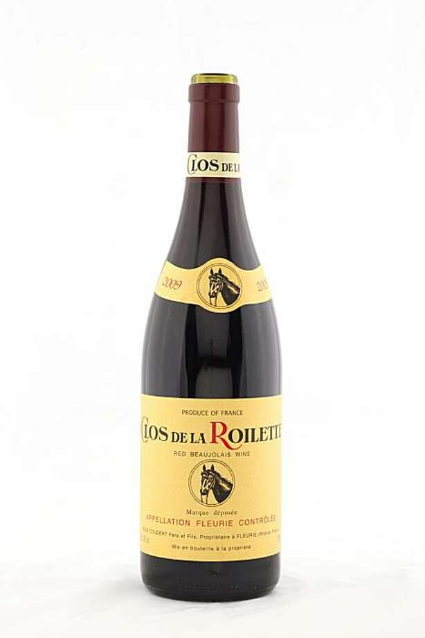 2009 Clos de la Roilette Red Beaujolais wine as seen in San Francisco, California, on November 17, 2010. Photo: Craig Lee, Special To The Chronicle