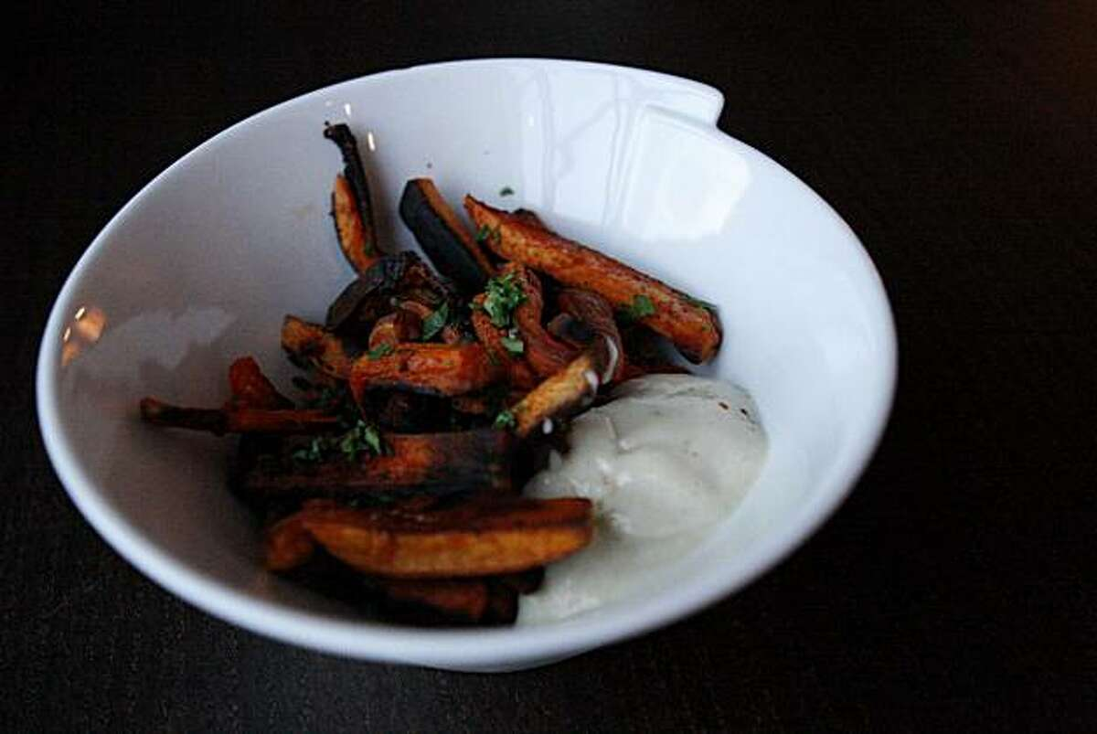 Sweet potato fries prepared by Sophie Brickman with the assistance of her boyfriend Dave Eisenberg in San Francisco, Calif., on Nov. 06, 2010.