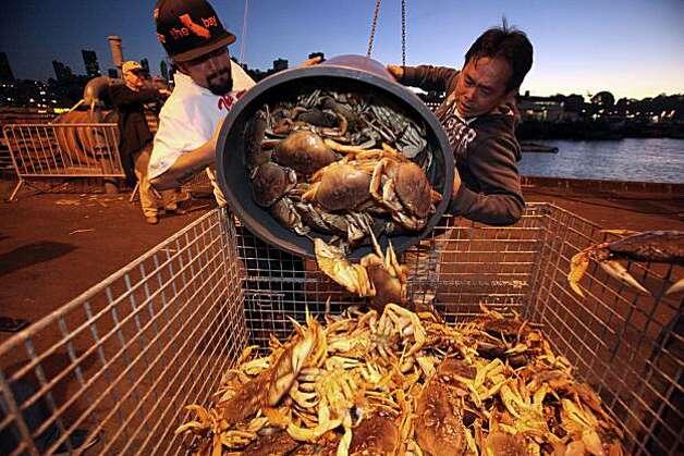 Dungeness crab season in San Francisco, Calif, on Friday, December