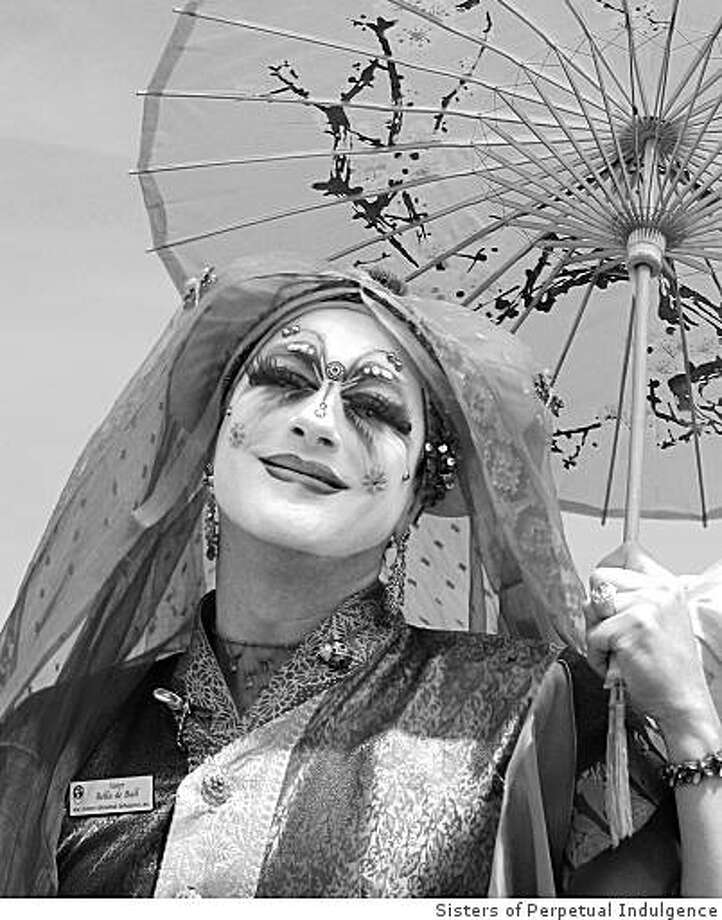 "Photo of Sister Bella de Ball appears in ""Under A Full Moon: 30 Years of Perpetual Indulgence"" (April 10 - June 28) at the Yerba Buena Center for the Arts.Credit: Sisters of Perpetual Indulgence Archive Photo: See Caption For Credit, Sisters Of Perpetual Indulgence"