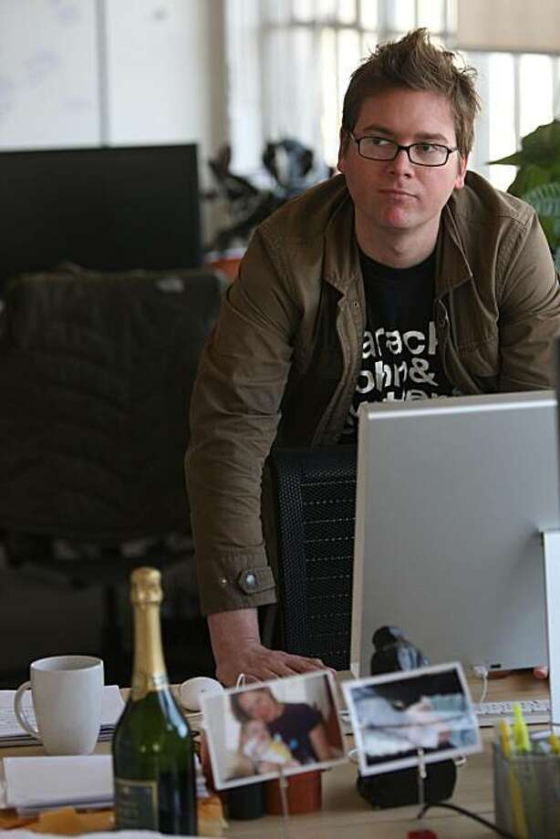Biz Stone, co-founder of Twitter.com checks his schedule at his desk on Thursday March 20, 2009 in San Francisco, Calif. Photo: Mike Kepka, The Chronicle