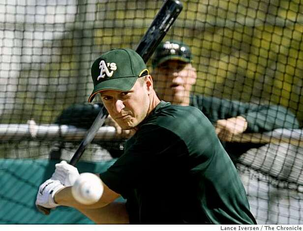 Oakland Athletics Mark Ellis takes batting practice with teammates during Spring Training workouts at the Papago Baseball Complex Tuesday February 17, 2009 in Phoenix Arizona Photo: Lance Iversen, The Chronicle