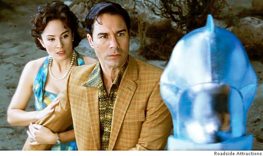 Jody Thompson and Eric McCormack in ALIEN TRESPASS Photo: Roadside Attractions
