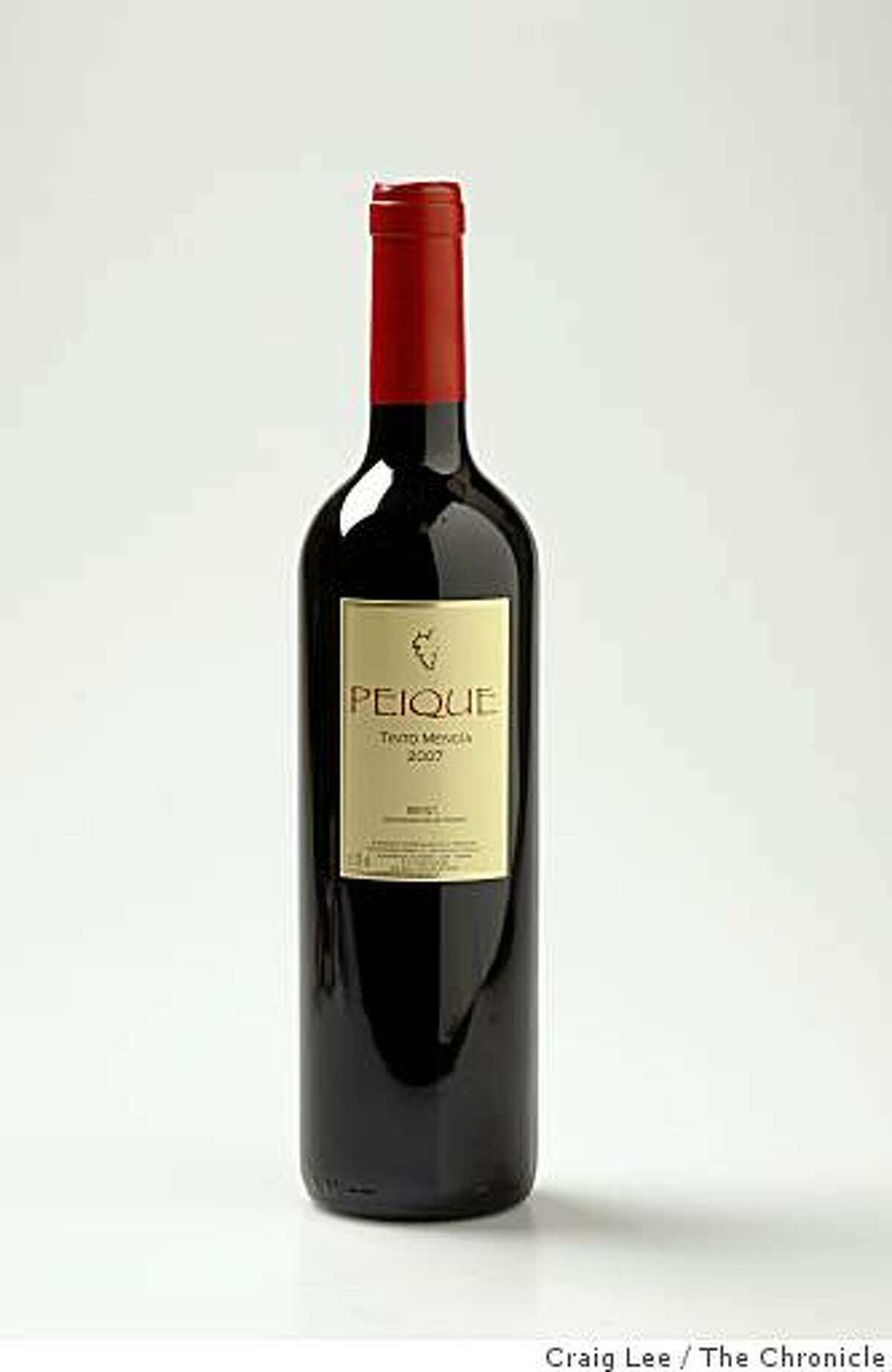 2007 Peique Tinto Mencia wine from the Bierzo region of Spain in San Francisco, Calif., on February 19, 2009.
