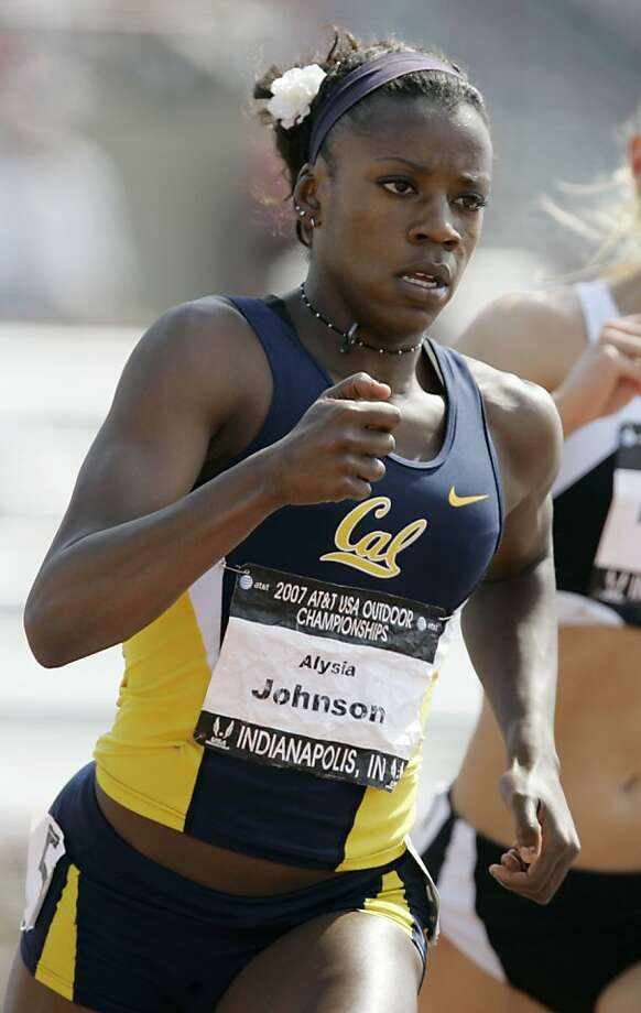 Alysia Johnson runs in the women's 800-meter run at the US Track and Field Championships in Indianapolis, Thursday, June 21, 2007. (AP Photo/Darron Cummings) Photo: Darron Cummings, AP