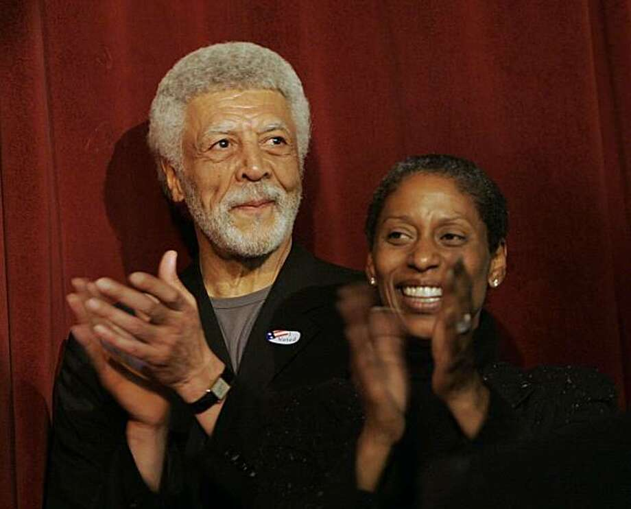 Ron Dellums and his wife Cynthia at the victory party for the mayor of Oakland in Oakland on June 6, 2006. Photo: Lacy Atkins, Sfc