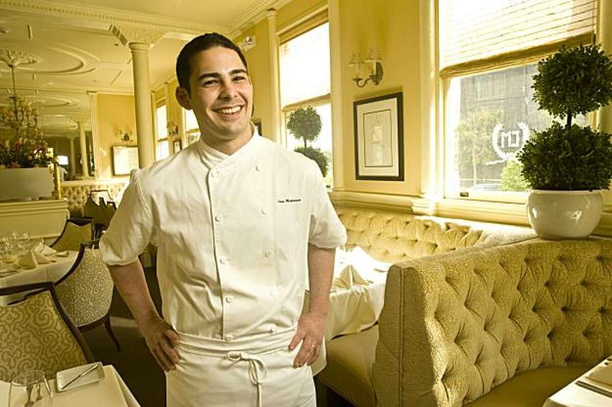Louis Maldonado, chef at Cafe Majestic in San Francisco, Calif., on March 6, 2009