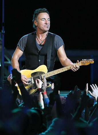 "The""Boss"" Bruce Springsteen in concert at the HP Pavilion in San Jose on April 1, 2009. Photo: Frederic Larson, The Chronicle"