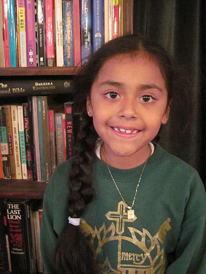 Michelle Santos, age 7, San Francisco Pirate name: Bright Light Photo: 826 Valencia