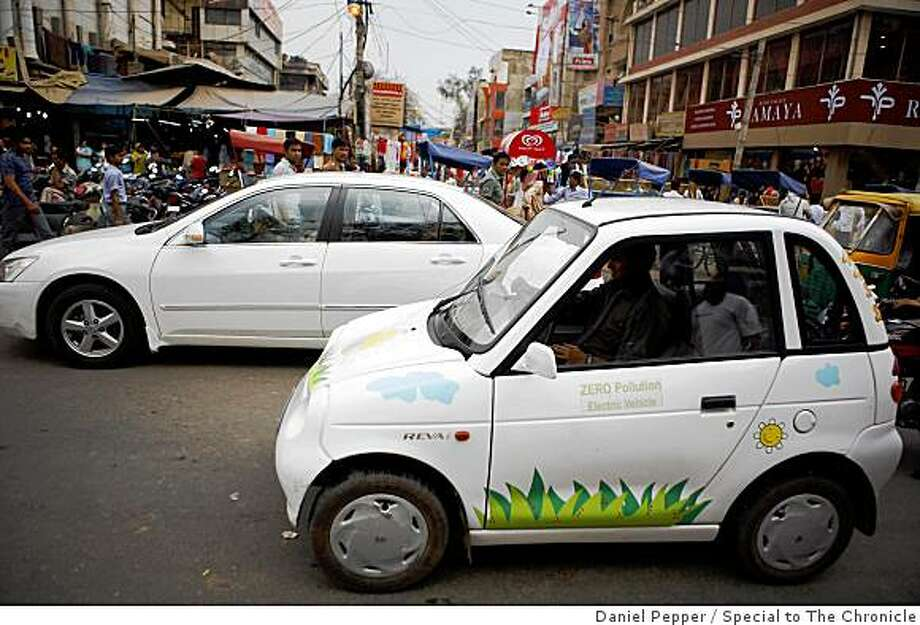 The Reva-i in traffic in New Delhi, India Photo: Daniel Pepper, Special To The Chronicle