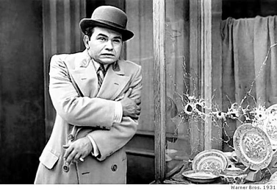 "Edward G. Robinson in ""Little Caesar."" Photo: Warner Bros. 1931"