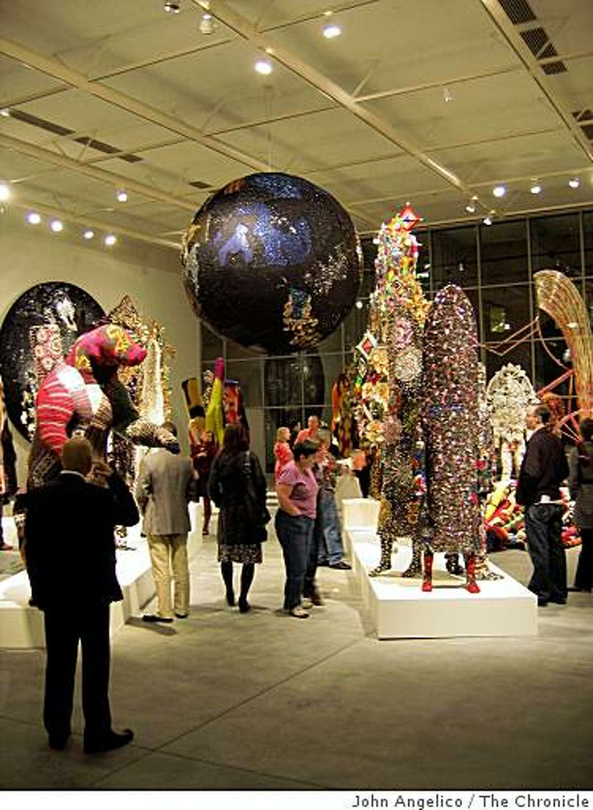 Nick Cave's costumes are displayed at