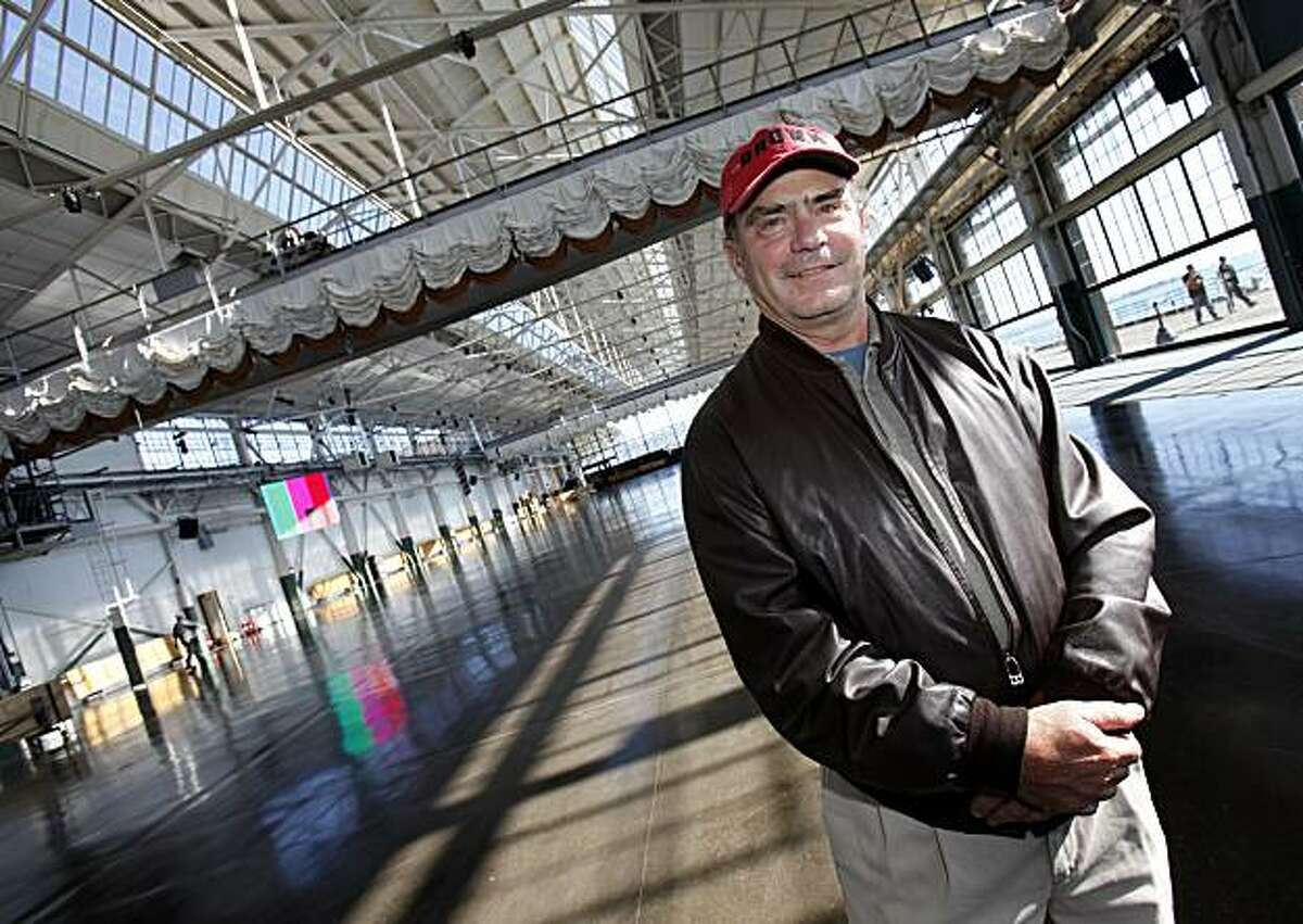 Developer Eddie Orton in his cavernous Craneway Pavilion Monday November 1, 2010. Developer Eddie Orton created the Craneway Pavilion/Ford Point Center from an old Ford automobile assembly plant in Richmond, Calif. The 50,000 square foot pavilion has become a major new Bay Area event center.