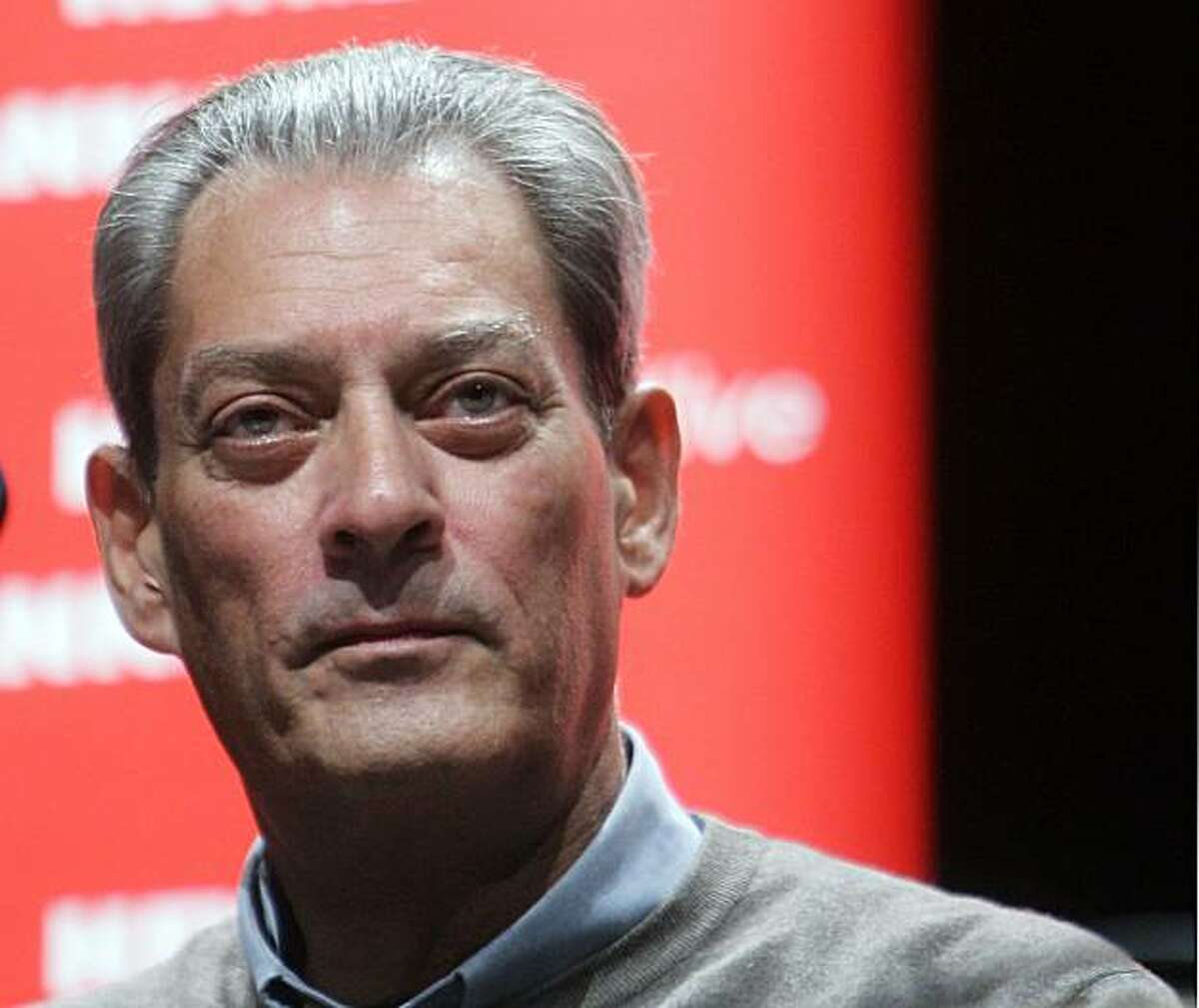 HAMBURG, GERMANY - SEPTEMBER 30: Best selling author Paul Auster lectures from his new book 'Man in Darkness' at Kampnagel on September 30, 2008 in Hamburg, Germany. (Photo by Krafft Angerer/Getty Images)
