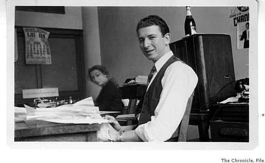 An undated photo of Herb Caen at his desk in the early years of his column.timeline_144 Photo: Chronicle File, The Chronicle, File
