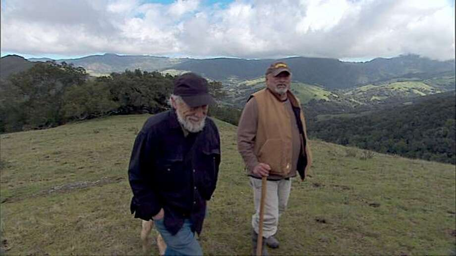 "Gary Snyder, left, and Jim Harrison appear in a scene from, ""Practice of the Wild."" Photo: Courtesy Of San Simeon Films"