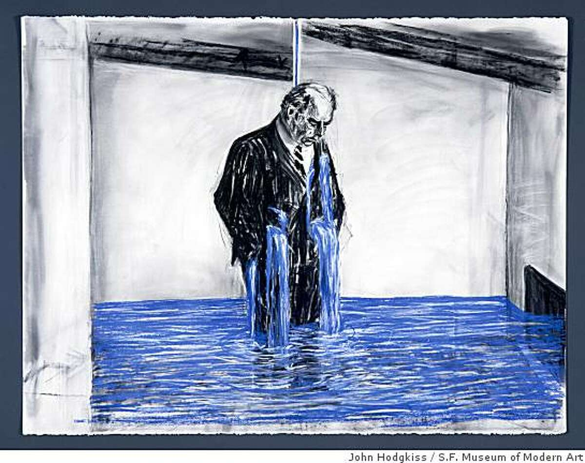 """Drawing for the film """"Stereoscope"""" (Felix Crying) (1998-99) charcoal, pastel and colored pencil on paper by William Kentridgekentridge11 5.tif"""