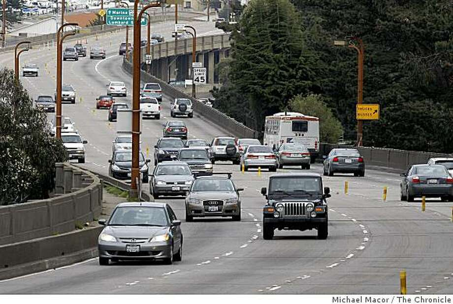 Doyle Drive,  the approach to the Golden Gate Bridge in San Francisco, Calif., on Saturday Feb. 28, 2009, money from the Federal Stimulus Plan will go to the retrofitting of Doyle Drive which brings a price tag of $1 billion. Photo: Michael Macor, The Chronicle