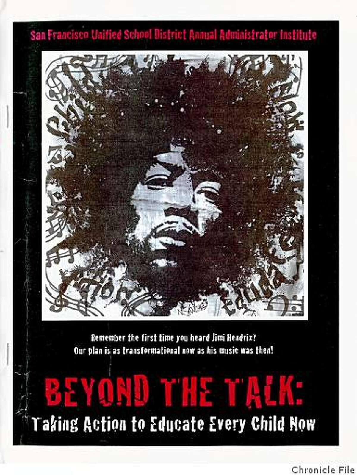 mandr_hendrix.jpg March 20, 2009 - Rock legend Jimi Hendrix has a starring role in San Francisco Unified School District's plan to transform the city's schools.handout/ San Francisco Chronicle File 2009