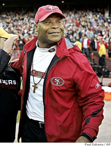 San Francisco 49ers head coach Mike Singletary smiles after the 49ers defeated the Washington Redskins 27-24 in a game in San Francisco, Sunday, Dec. 28, 2008. Photo: Paul Sakuma, AP