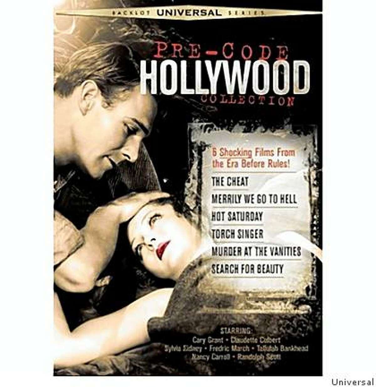 """The cover of the the DVD """"Pre-Code Hollywood Collection"""" from Universal."""