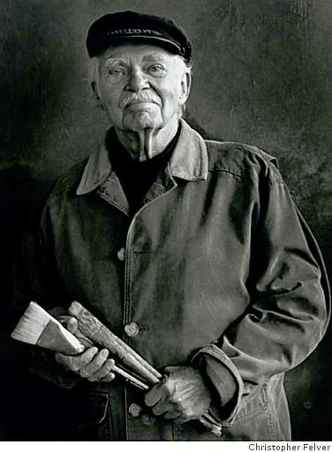 Walt Kuhlman, Bay Area abstract expressionist painter 1918-2009 Photo: Unknown, Christopher Felver