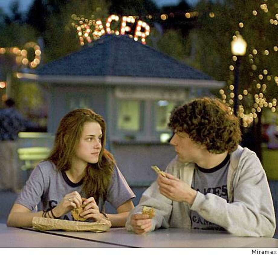 "Jesse Eisenberg and Kristen Stewart star in ""Adventureland."" Photo: Miramax"