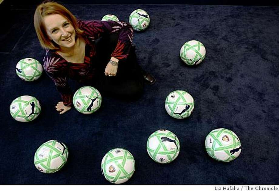 Tonya Antonucci is the commissioner of Women's Professional Soccer at her office in San Francisco, Calif., on Thursday, March 26, 2009. Photo: Liz Hafalia, The Chronicle