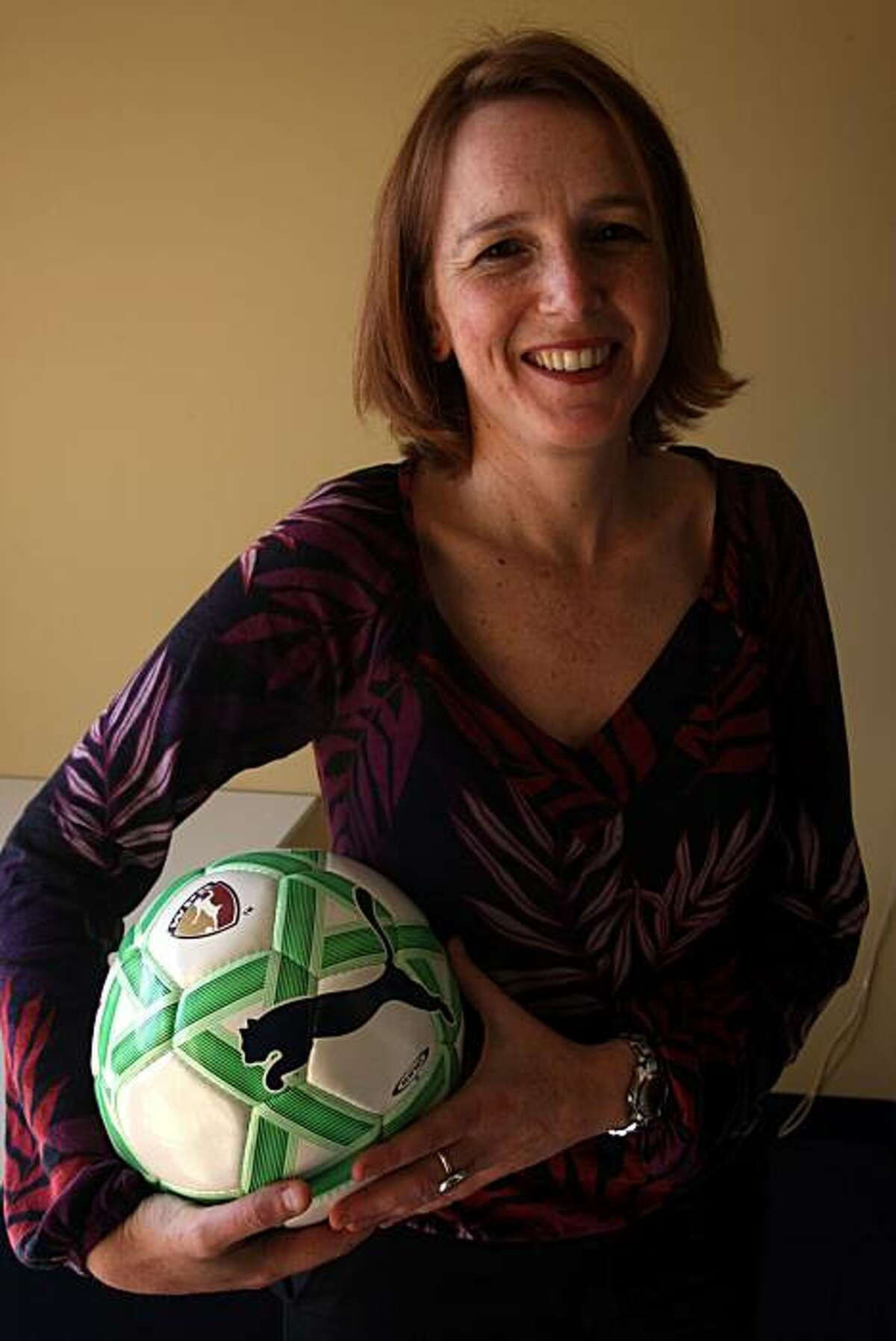 Tonya Antonucci is the commissioner of Women's Professional Soccer at her office in San Francisco, Calif., on Thursday, March 26, 2009.