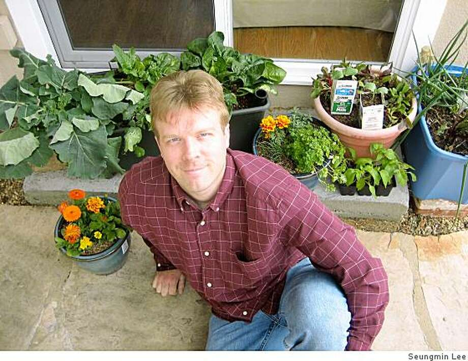 R.J. Ruppenthal, author of ?Fresh Food from Small Spaces: The Square Inch Gardener?s Guide to Year-Round Growing, Fermenting and Sprouting? (Chelsea Green Publishing, 2008). Photo: Seungmin Lee