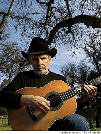 Country music legend Merle Haggard, on Wednesday Mar. 19, 2009, Haggard at his home in Palo Cedro, Calif. near Shast Lake, will have a show next month in Santa Rosa as he is still touring, performing concerts with his band and is now in his early seventies. Photo: Michael Macor, The Chronicle