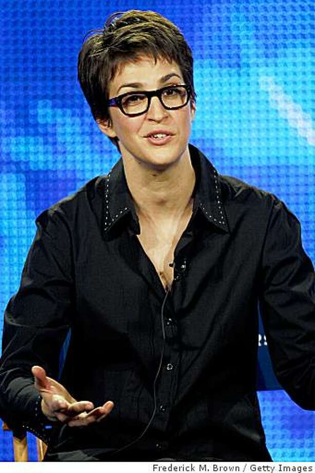 """LOS ANGELES, CA - JANUARY 15: Host Rachel Maddow of the television show """"The Rachel Maddow Show"""" attends the NBC Universal portion of the 2009 Winter Television Critics Association Press Tour at the Universal Hilton Hotel on January 15, 2009 in Los Angeles, California. Photo: Frederick M. Brown, Getty Images"""