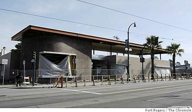 The new library being built on Ocean Avenue in San Francisco, Calif., is part of the plan to improve the neighborhood. Photo: Kurt Rogers, The Chronicle