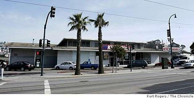 The Kragen Auto  on Ocean Ave will be removed and the area is scheduled  for improvements . on Wednesday Mar 18,  2009 in San Francisco , Calif Photo: Kurt Rogers, The Chronicle
