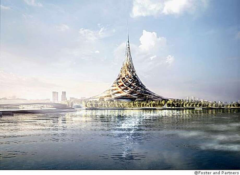 Crystal Island, Moscow, Russia, is designed by England's Foster and Partners. It was approved last year, but that doesn't mean it will ever be built Photo: @Foster And Partners