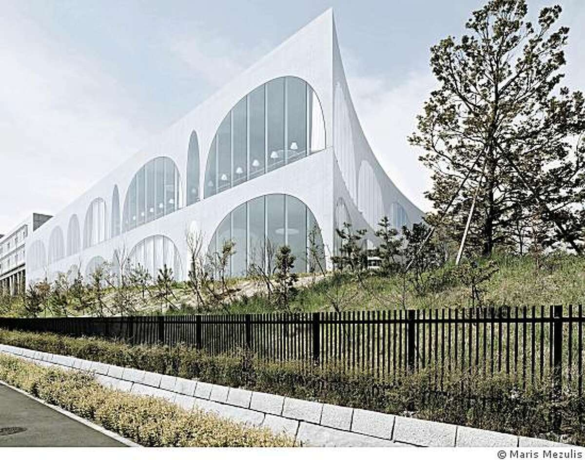 Toyo Ito, a Japanese architect who is designing the new museum for UC-Berkeley, also did Tama Art University New Library, Hachioji City,Tokyo, Japan, 2004?07 � Maris Mezulis