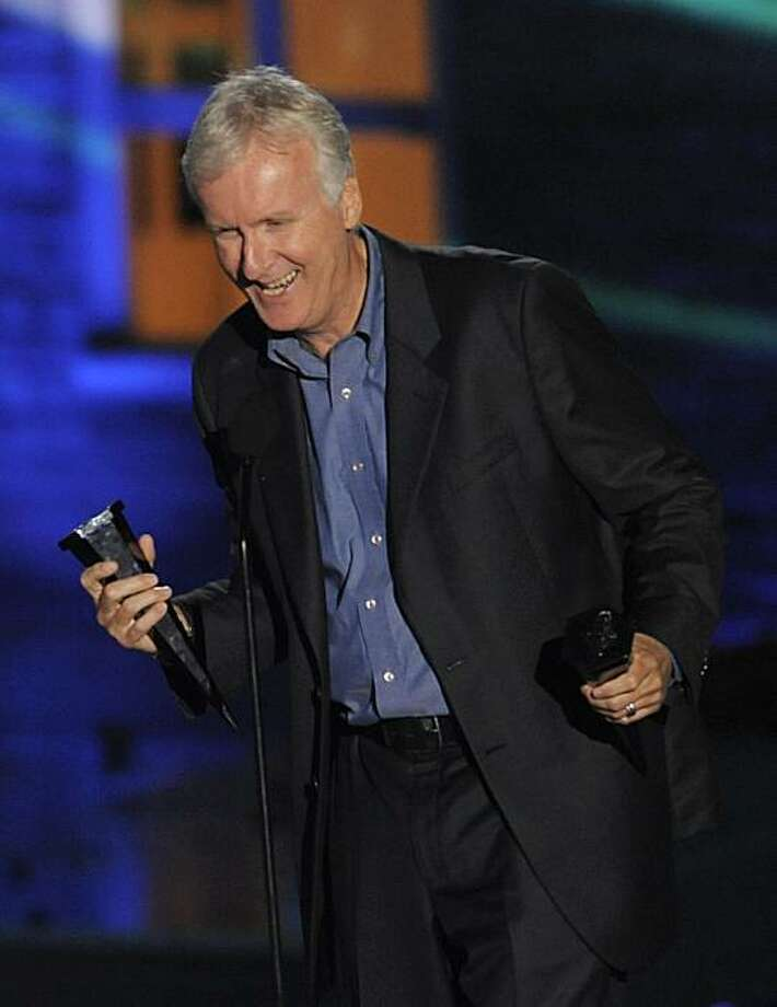 James Cameron accept the award for 3D Top 3 at the Scream Awards on Saturday Oct. 16, 2010, in Los Angeles. Photo: Chris Pizzello, AP