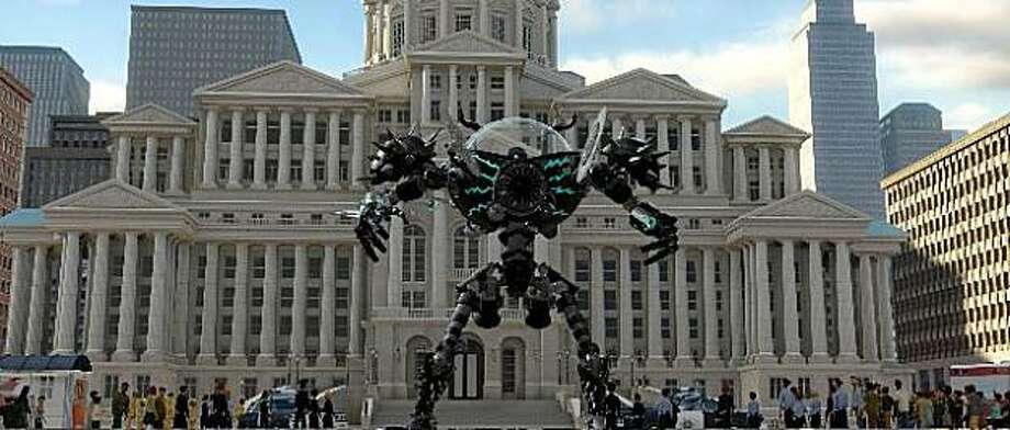 Still from Megamind. Metro City's city hall is modeled after San Francisco's City Hall. /Courtesy PDI/DreamWorks Photo: Ho