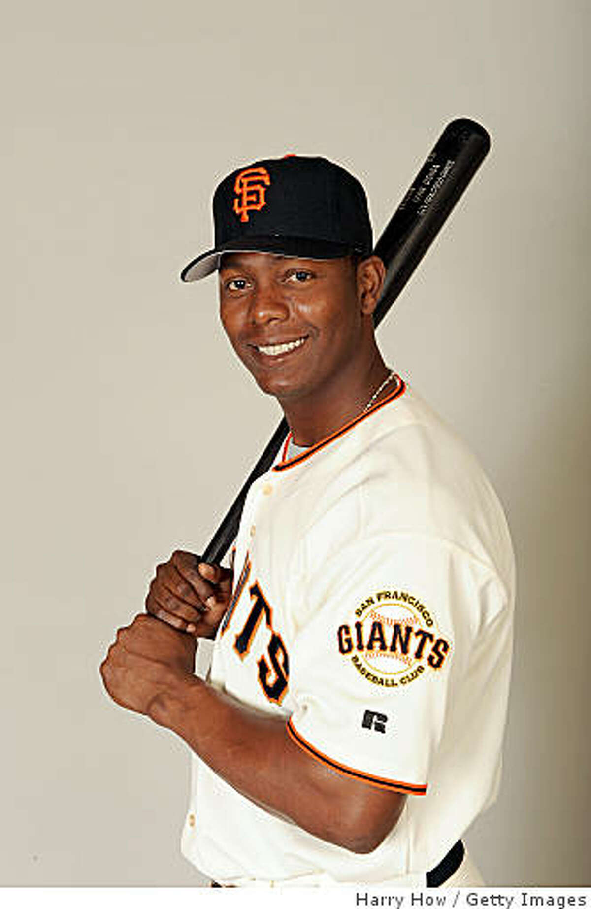 SCOTTSDALE, AZ - FEBRUARY 23: Edgar Renteria #16 of the San Francisco Giants poses during photo day at Scottsdale Stadium on February 23, 2009 in Scottsdale, Arizona. (Photo by Harry How/Getty Images)