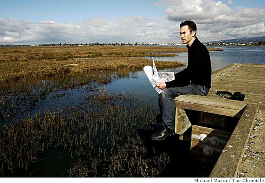 Robin Grossinger on the viewing pier at the Martin Luther King Jr. Shoreline Park, in Oakland, Calif., on Wednesday Feb. 25, 2009, which overlooks Arrowhead Marsh. Grossinger, is a historical ecologist at the San Francisco Estuary Institute. Photo: Michael Macor, The Chronicle
