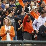 San Francisco Mayor Gavin Newsom and Speaker of the House Nancy Pelosi wave their rally towels before at the start of the game.  The San Francisco Giants take on the Texas Rangers in Game 2 of the World Series at AT&T Park in San Francisco, Calif., on Thursday, October 28, 2010.