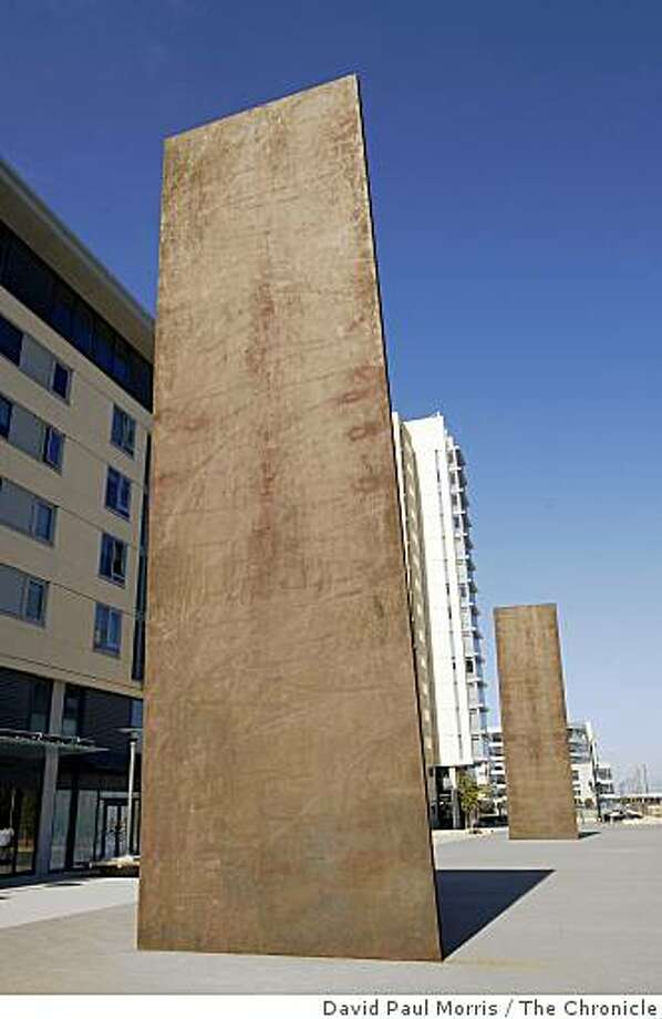 Outdoor sculpture by Richard Serra is shown at UCSF Mission Bay. Photo: David Paul Morris, The Chronicle