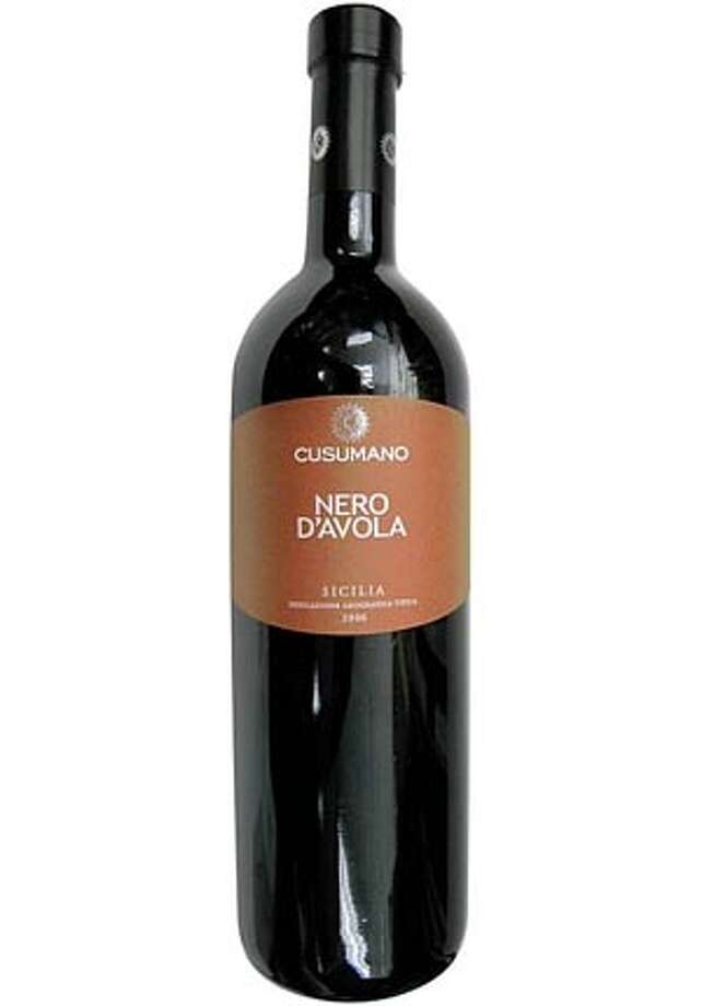 IN OUR GLASSES:Cusumano Nero D'Avola Sicilia Indicazione Geografica Tipica2006 Photo: Ho