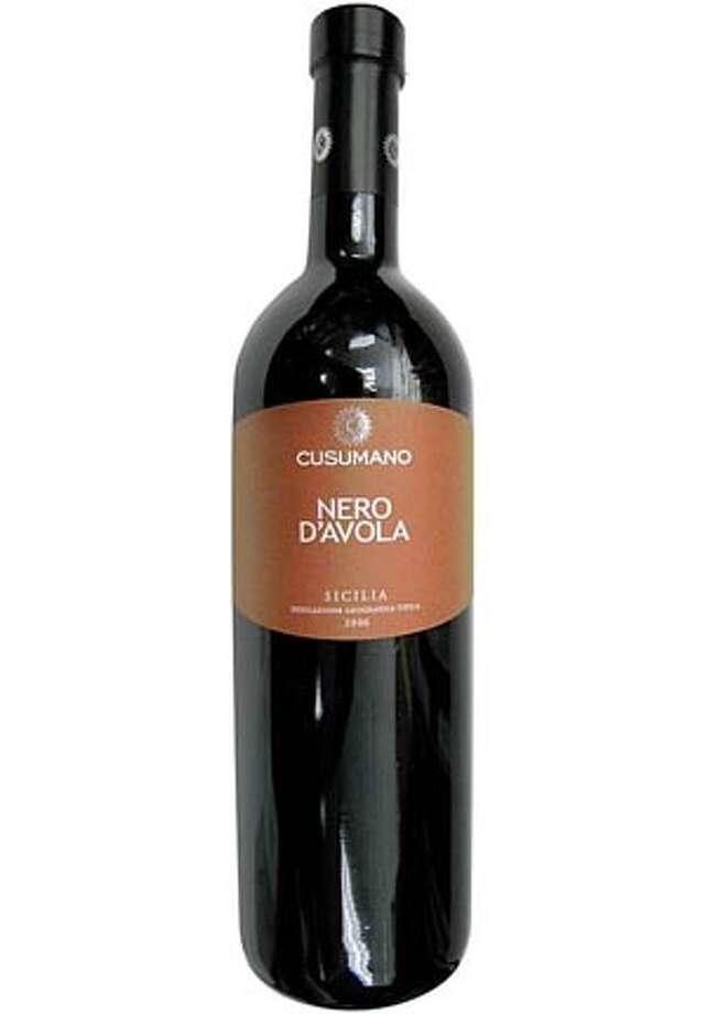 IN OUR GLASSES:Cusumano Nero D'Avola Sicilia Indicazione Geografica Tipica2006 Photo: Ho