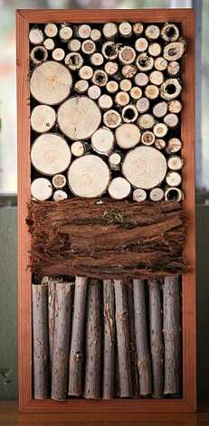 Detail of some of the bug houses Colleen Smith, a woodsmith by trade,  has made in her garage on October 21, 2010 in Pacifica, Calif.  Photograph by David Paul Morris/Special to the Chronicle Photo: David Paul Morris, Special To The Chronicle