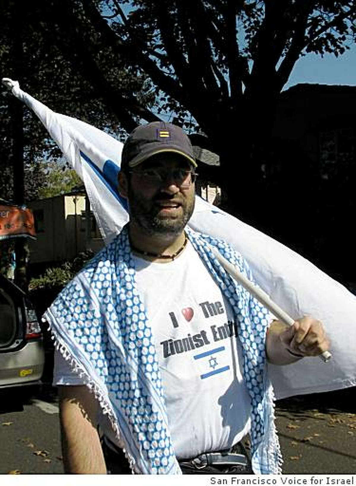 Daniel Kliman, a 38-year-old doctor from Oakland and a pro-Israel activist was found dead at the bottom of an elevator shaft in the Sharon Building at 55 New Montgomery Street in San Francisco, Calif. Kliman is pictured at the How Berkeley Can You Be parade from September 28, 2008 in Berkeley, Calif.